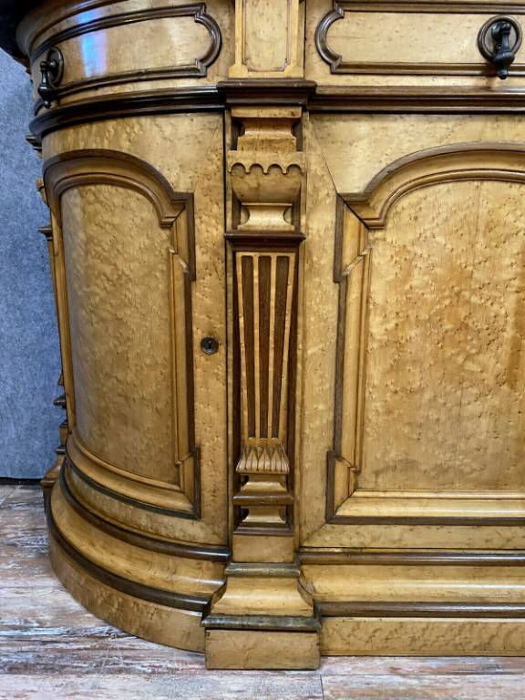 buffet en enfilade époque Empire Charles X en bois clair vers 1820  f   Puces Privées