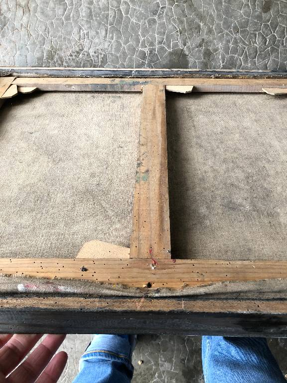 ANCIENNE PEINTURE COMPOSITION ABSTRAITE SIGNÉ PIERRE BOSCO 20th | Puces Privées
