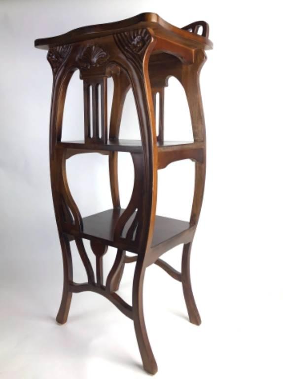 Sellette de style ART NOUVEAU en bois exotique | Puces Privées