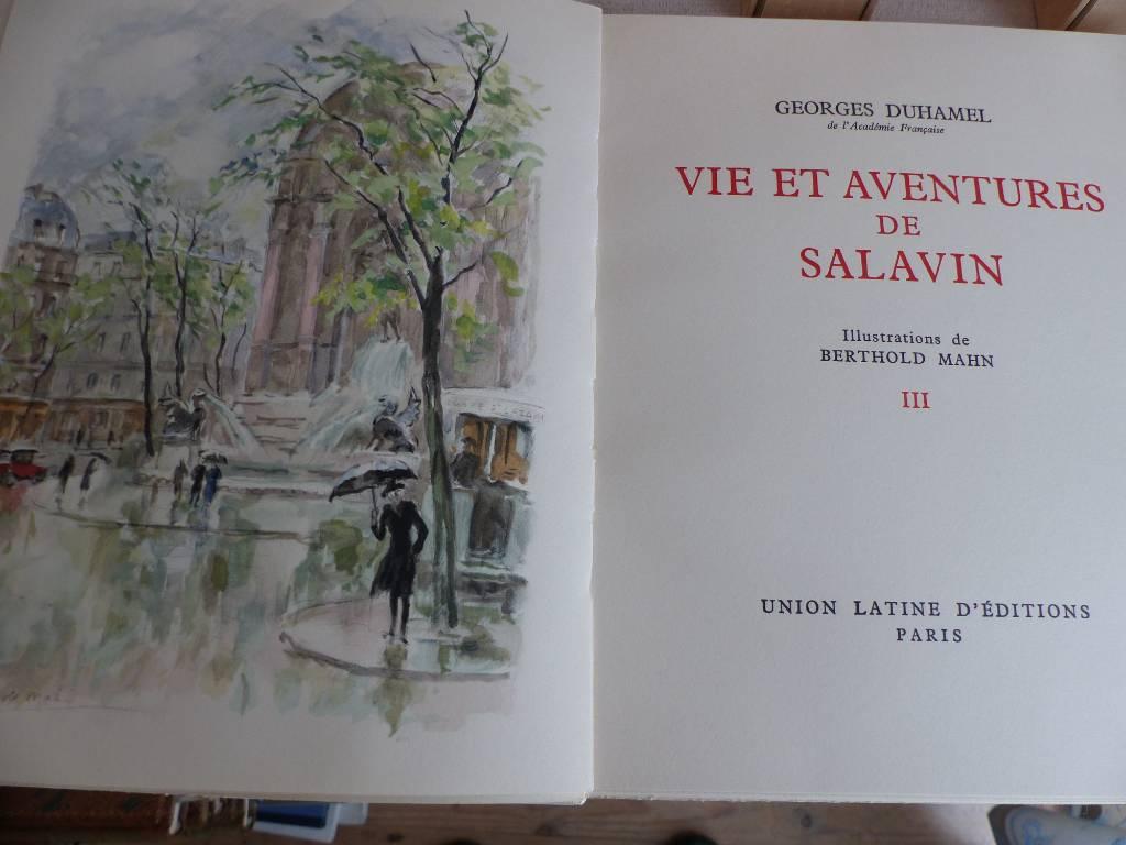 No - 447 - Georges Duhamel - Vie et aventures de Salavin  - Illustrations de Berthold Mahn | Puces Privées