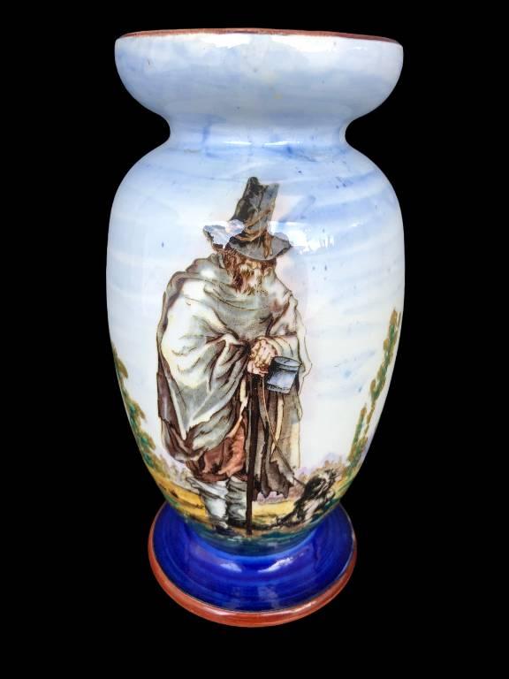 Ancien vase en faïence de Gien