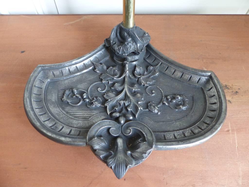 No - 455 - serviteur de cheminée d'époque 19 ème en bronze , fonte et fer | Puces Privées