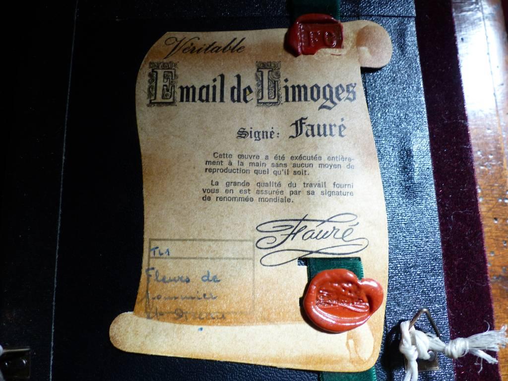 No - 456 - Véritable Email de Limoges signé Fauré | Puces Privées