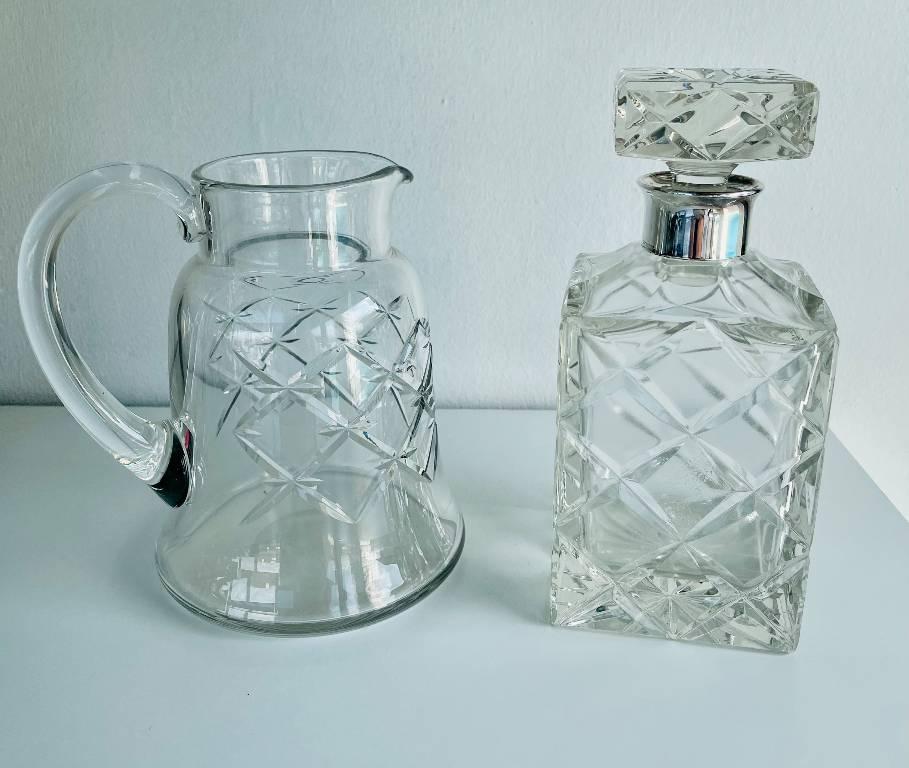 Duo cristal ( carafe  et pichet) | Puces Privées