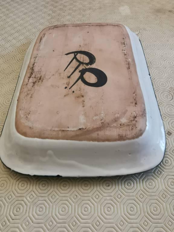 No - 459 - Picault Robert  , plat creux en terre cuite émaillée  XXème siècle   Puces Privées