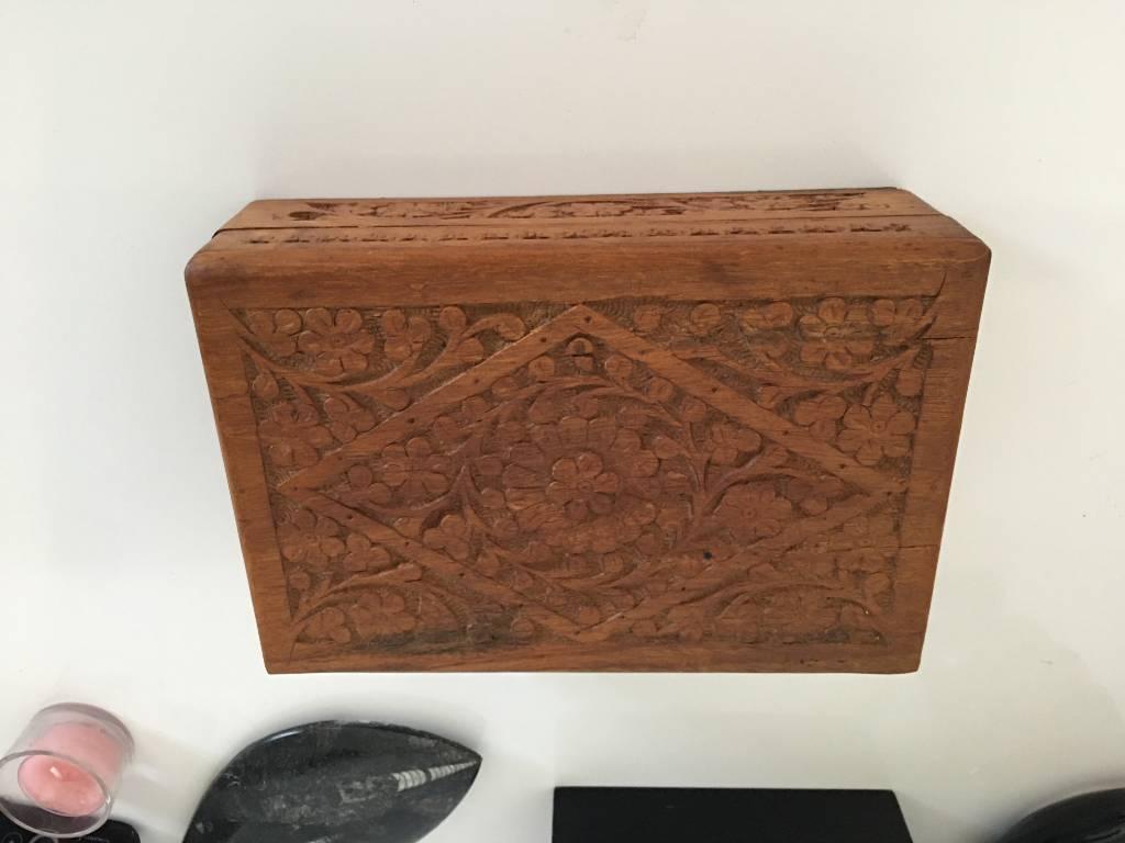 lot de trois boites en bois gigogne   Puces Privées