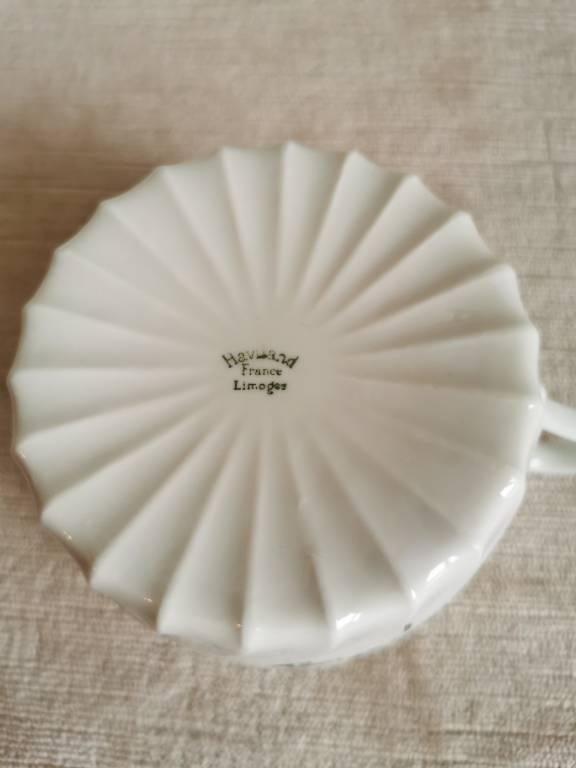 No - 465 - Trois tasses thé ou chocolat porcelaine  Haviland  France Limoges | Puces Privées