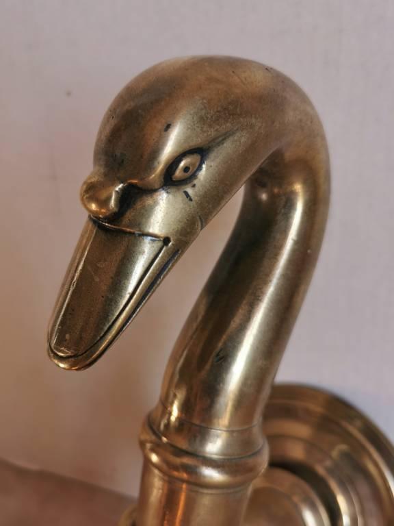 No - 477 - Robinet de fontaine en bronze col de cygne XIX ème siècle | Puces Privées