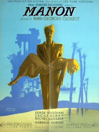 affiche cinéma Manon, Affiches anciennes (cinéma, theâtre, publicitaire), Image   Puces Privées