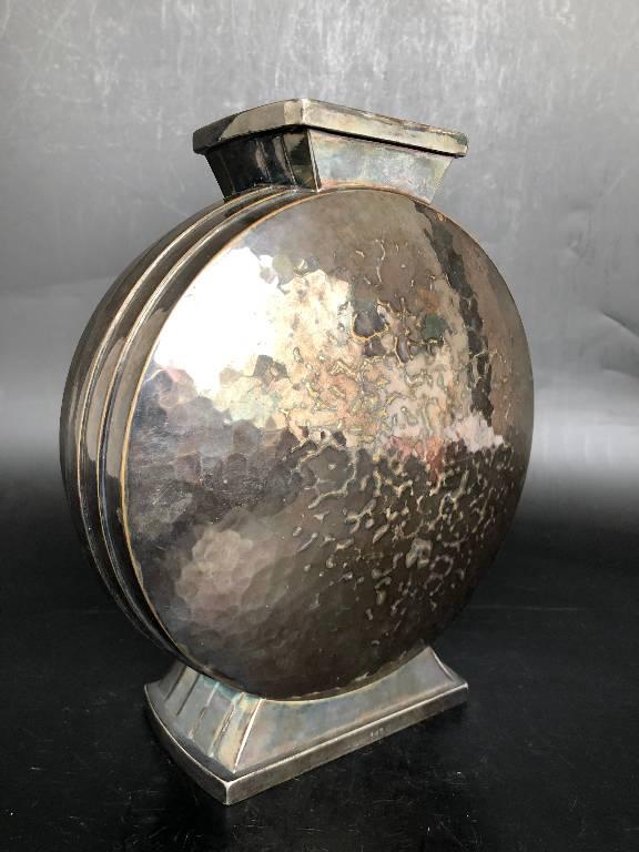 Christofle - Vase Art Deco Métal Argenté Vers 1930 | Puces Privées