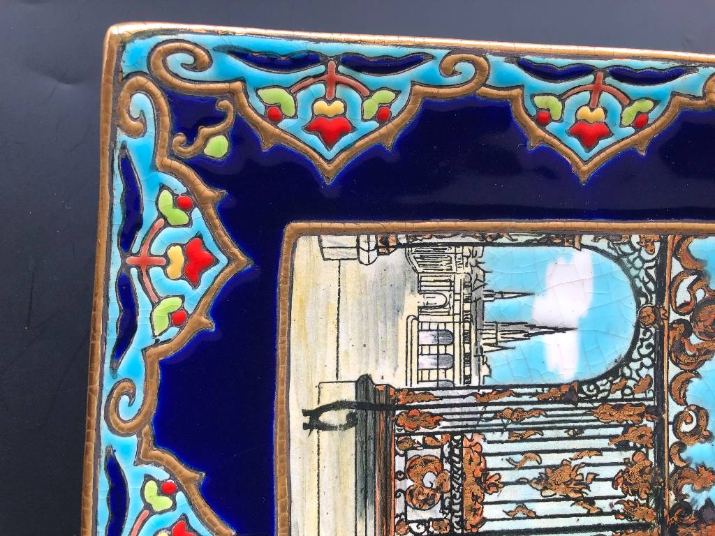 JOLI PLAT EMAUX DE LONGWY PLACE STANISLAS NANCY | Puces Privées