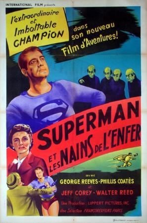 affiche cinéma Superman et les nains de l'enfer | Puces Privées