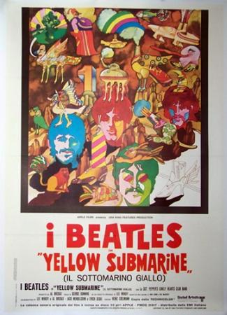affiche cinéma Yellow Submarine, Affiches anciennes (cinéma, theâtre, publicitaire), Image   Puces Privées