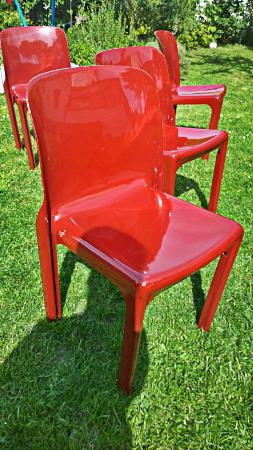 Ensemble de 4 chaises Sélène - Vico Magistretti, Chaises - tabourets, Sièges   Puces Privées
