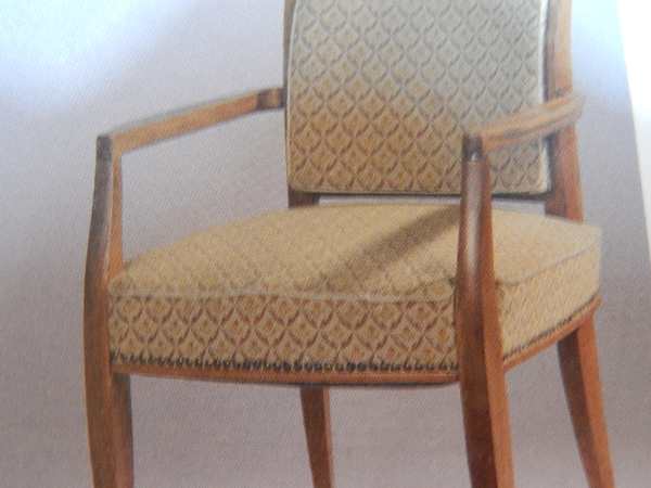 superbe fauteuil de bureau ART DECO en merisier A-PORTENEUVE, Fauteuils, Sièges | Puces Privées