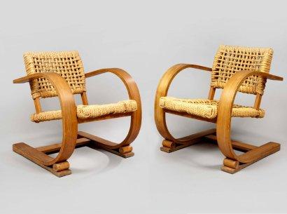 paire de fauteuils AUDOUX ET MINET édition VIBO à VESOUL, Fauteuils, Sièges | Puces Privées