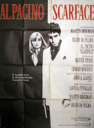 affiche cinéma Scarface, Affiches anciennes (cinéma, theâtre, publicitaire), Image   Puces Privées