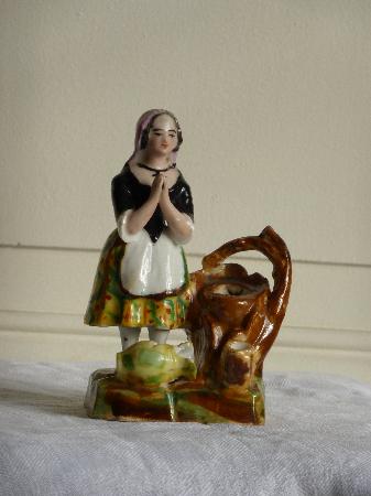 No - 47 -  Encrier en porcelaine - vieux Paris - 19 ème., Encriers, ecritoires, Arts décoratifs   Puces Privées