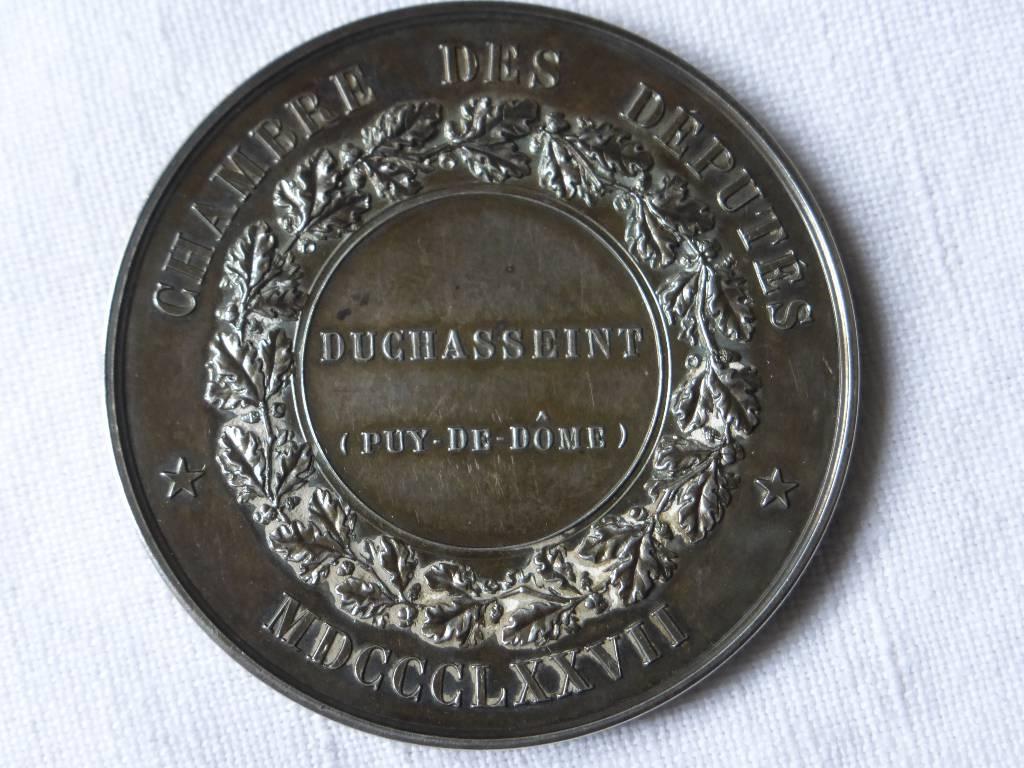 No - 75 -  Médaille en argent de député FRANCE assemblée nationale 1877, Numismatique, Collections | Puces Privées