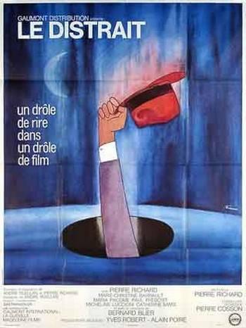 affiche cinéma Le Distrait, Affiches anciennes (cinéma, theâtre, publicitaire), Image | Puces Privées