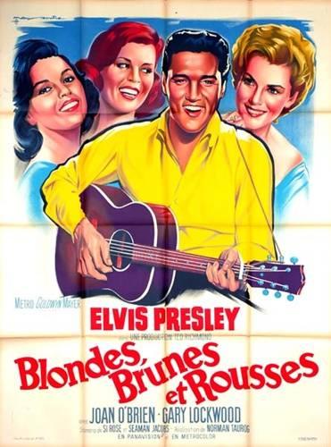 affiche cinéma Blondes,brunes et rousses, Affiches anciennes (cinéma, theâtre, publicitaire), Image   Puces Privées