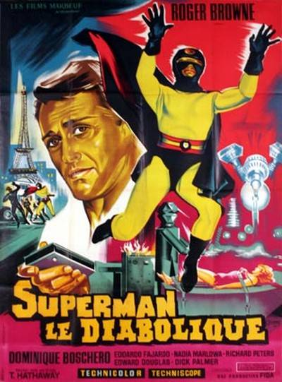 affiche cinéma Superman le diabolique, Affiches anciennes (cinéma, theâtre, publicitaire), Image | Puces Privées