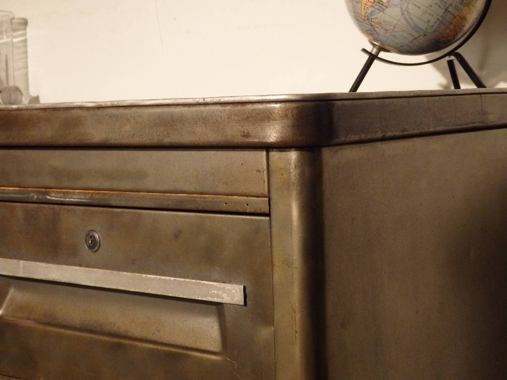 Ancien bureau d'atelier en métal Ronéo | Puces Privées