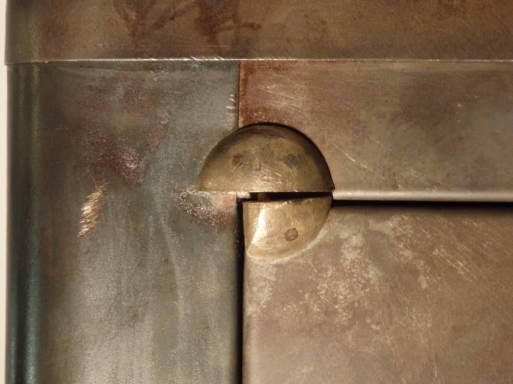Armoire 1950 en métal brossé, Mobilier industriel, Mobilier | Puces Privées