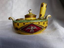 No - 47 -  Encrier en porcelaine - vieux Paris - 19 ème., Encriers, ecritoires, Arts décoratifs | Puces Privées