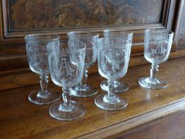 No- 308 - Rare verre de comptoir publicitaire  porte cuillères à absinthe | Puces Privées