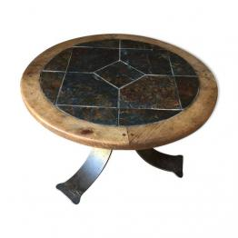 Petite table en rotin et osier, Tables basses, Mobilier | Puces Privées