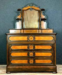 Exceptionnelle commode époque Louis XIV en marqueterie de bois nobles | Puces Privées