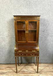 Superbe et rare bureau de lettré Louis XIII en noyer et incrustations de nacre | Puces Privées