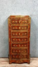Écritoire de notaire époque Empire en acajou a patine blonde vers 1800-1810 | Puces Privées