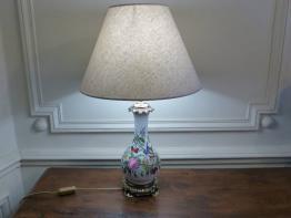 No - 474 - Belle lampe en bronze et onyx début XXème siècle | Puces Privées