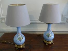 Lampe ancienne d'horloger deux émaillés verts, Lampes, Luminaires | Puces Privées