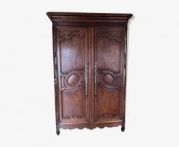 Belle armoire régionale 19ème restaurée | Puces Privées