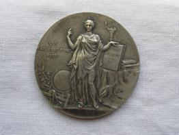No - 78 -  Médaille souvenir de mon ascension dans le grand ballon captif à vapeur de Mr Henry Giffard .1878, Numismatique, Collections | Puces Privées