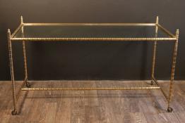 Très Importante console Empire en acajou a décors de bronzes dorés | Puces Privées