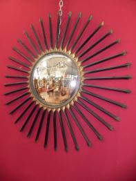 Miroir Soleil, Métal, Miroir ancien | Puces Privées