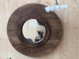Miroir ancien bois