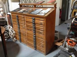 Ancien cabinet à classeur  environ 1950 | Puces Privées
