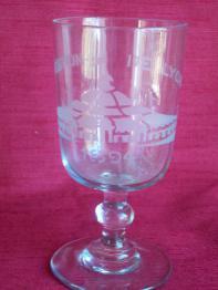 No - 342 -  Six verres à vin monogrammes  P  A et datés 1890 | Puces Privées
