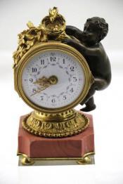 Ancien porte montre Cuivre moulé art nouveau fin XIX début XXème, Autres, Horlogerie | Puces Privées