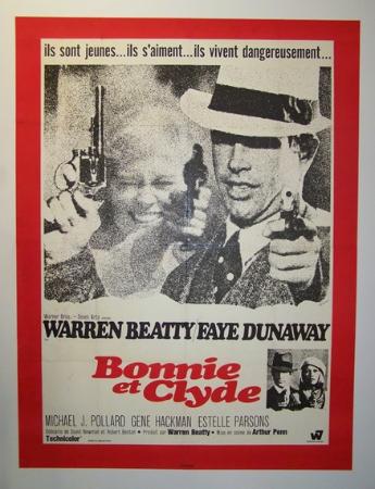 affiche cinéma Bonnie and Clyde, Affiches anciennes (cinéma, theâtre, publicitaire), Image | Puces Privées