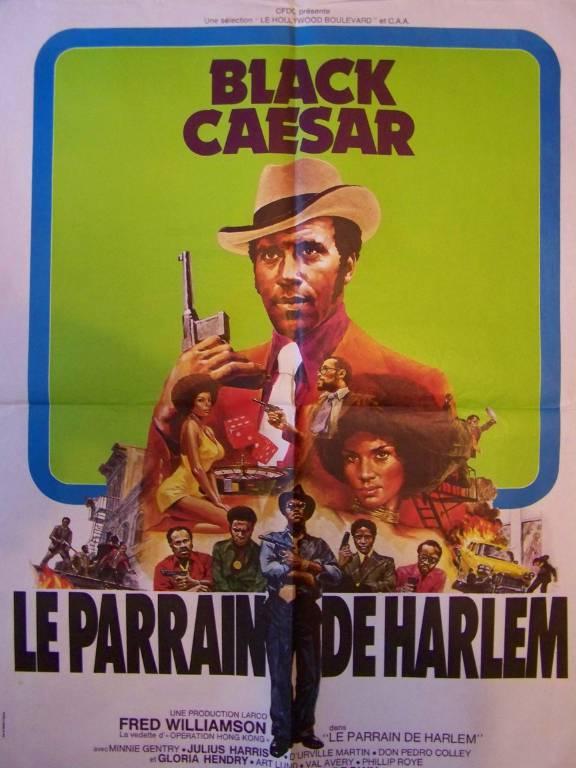 affiche cinéma Le parrain de Harlem (Black Caesar), Affiches anciennes (cinéma, theâtre, publicitaire), Image   Puces Privées