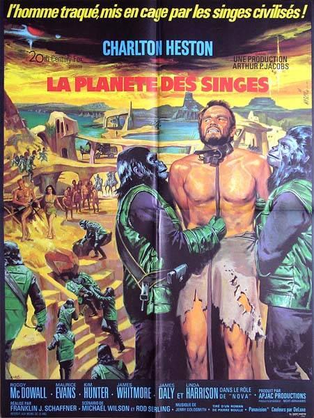 affiche cinéma La planète des singes, Affiches anciennes (cinéma, theâtre, publicitaire), Image | Puces Privées
