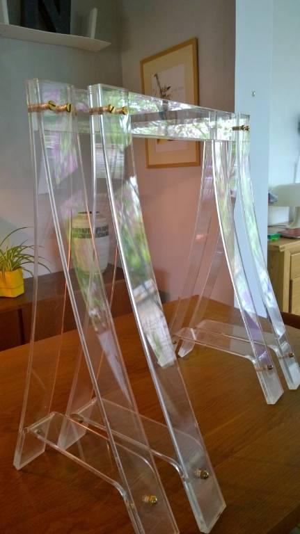Paire de tréteaux plexi Gacita | Puces Privées