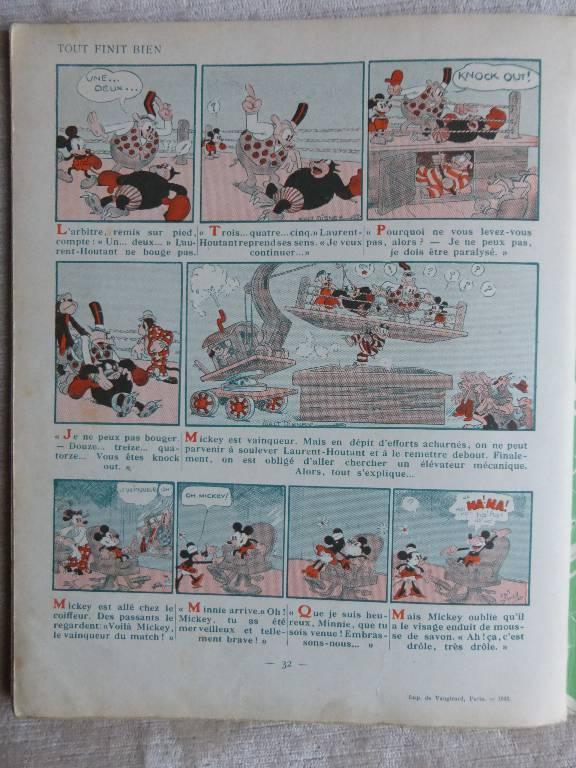 No - 98 -  Mickey  boxeur année  1932, Jeunesse, Livres   Puces Privées