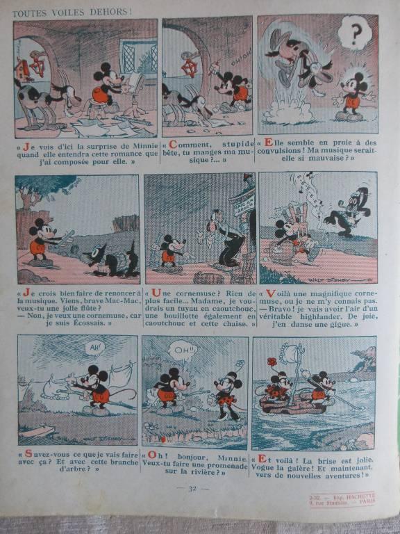 No - 99 -  Mickey contre Ratino année 1932 ., Jeunesse, Livres | Puces Privées